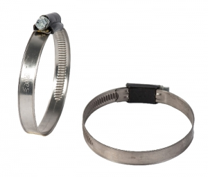"FST - GST _ Worm Drive Hose Clamp with ""BLACK HOUSING"" W1"